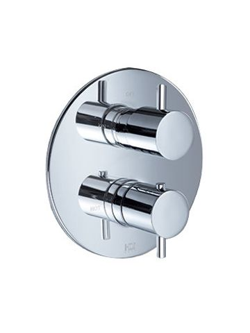 Hotbath IBS 2RA Get Together inbouw doucheset Laddy geborsteld nikkel - Ronde 3-standen handdouche - hoofddouche 25cm - plafondbuis 30cm - glijstang