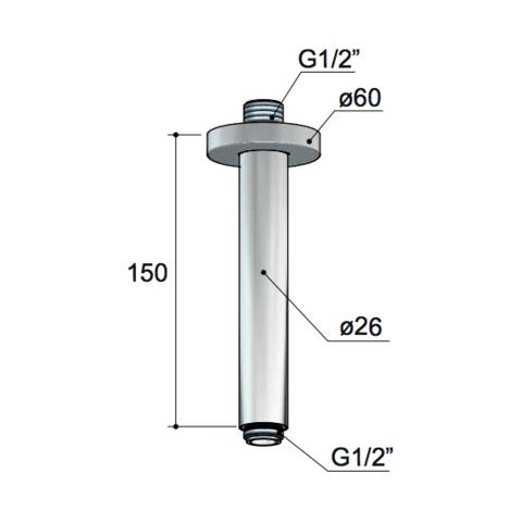 Hotbath IBS 2RA Get Together inbouw doucheset Laddy geborsteld nikkel - Ronde 3-standen handdouche - hoofddouche 30cm - plafondbuis 15cm - glijstang