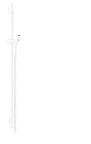 Hansgrohe Unica glijstang 90cm met slang mat wit