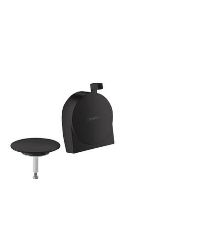 Hansgrohe Exafill S afdekset voor badafvoer mat zwart