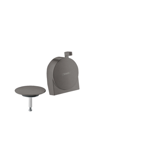 Hansgrohe Exafill S afdekset voor badafvoer brushed black chrome