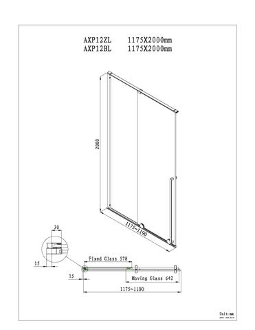Blinq Guard schuifdeur 120x200 cm. li/re. mat zwart