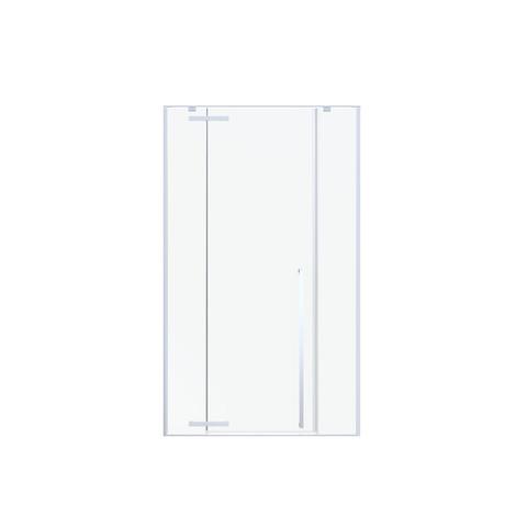 Blinq Guard draaideur met 2x vast deel 160x200cm links/rechts chroom