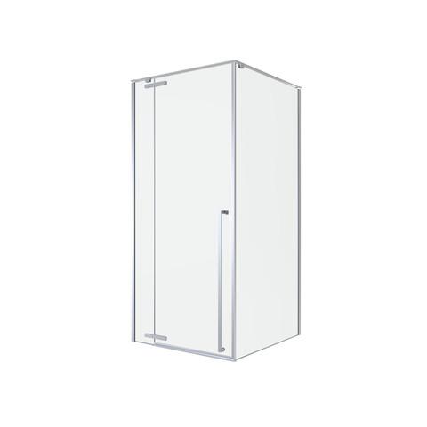 Blinq Guard draaideur met 1x vast deel 90x200cm links/rechts chroom