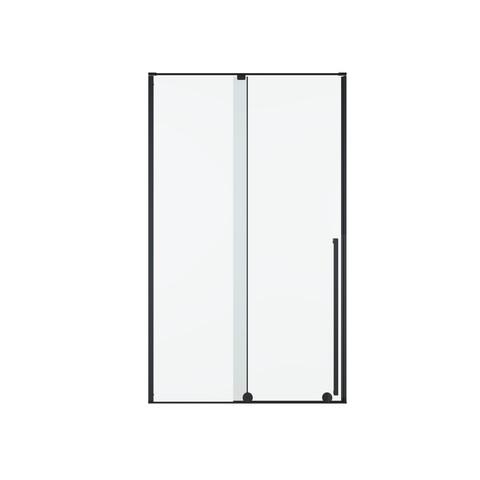 Blinq Guard draaideur met 1x vast deel 100x200cm links/rechts mat zwart