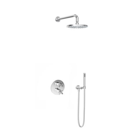 Hotbath IBS 3A Get Together inbouw doucheset Chap chroom - met staafhanddouche - wandarm - hoofddouche 20cm - wandsteun