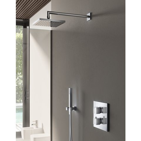 Hotbath IBS 4A Get Together inbouw doucheset Bloke chroom - wandarm - hoofddouche 20cm