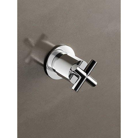 Hotbath Chap C068 inbouw stopkraan geborsteld nikkel