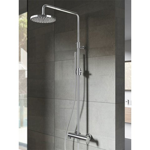 Hotbath SDS 8 Get Together stortdoucheset Friendo chroom - staafhanddouche - 20cm hoofddouche