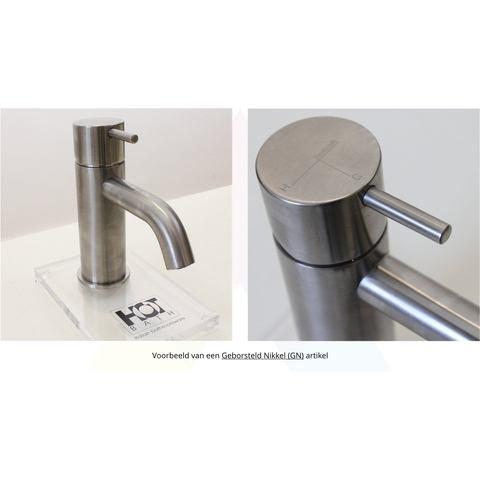 Hotbath Cobber CB041 keukenkraan recht geborsteld nikkel
