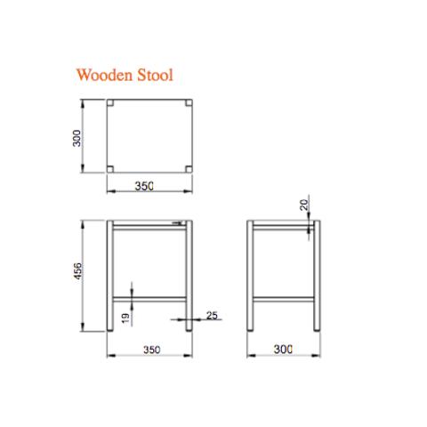 Looox Wood Collection Stool krukje eiken met geborsteld RVS frame