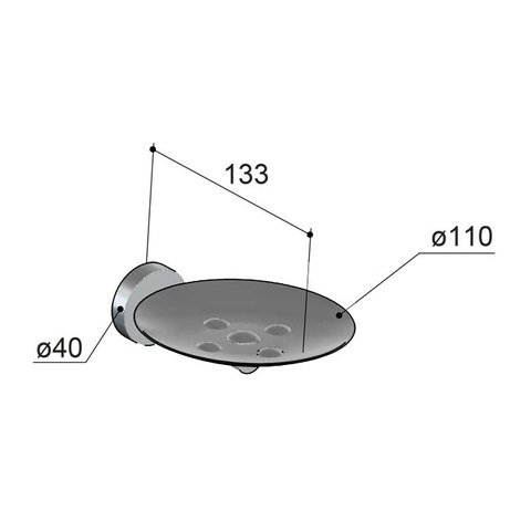 Hotbath Cobber CBA02 zeephouder glans nikkel