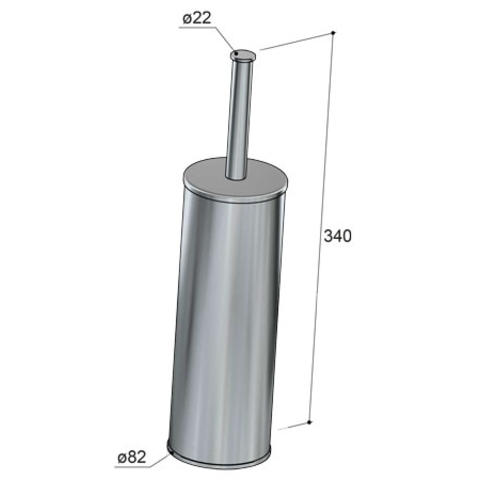 Hotbath Cobber CBA12 toiletborstelhouder vrijstaand chroom