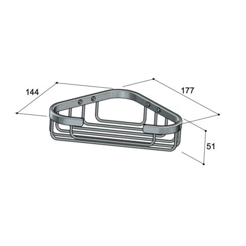 Hotbath Cobber CBA13 hoekdraadkorf chroom