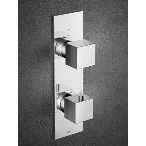 Hotbath Bloke Q051 inbouw thermostaat met 2-weg omstel chroom