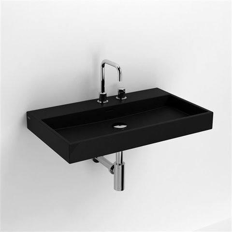 Clou Wash Me wastafel 70 cm mat-zwart keramiek