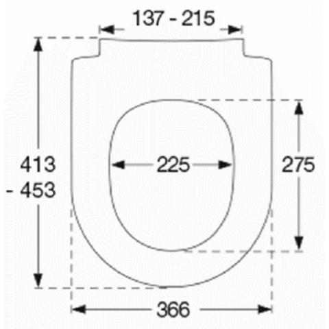 Pressalit Sway D2 toiletzitting met Softclosing & QuickRelease wit