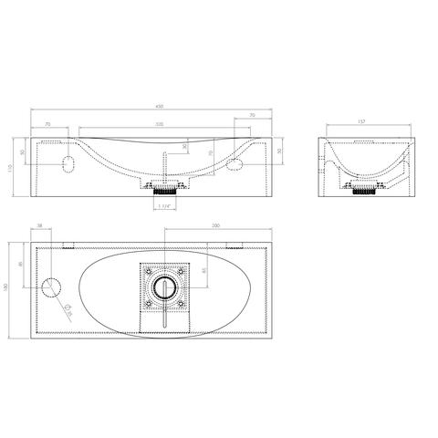 Clou Hammock fontein 45 cm aluite