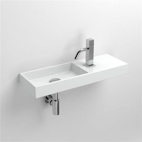 Clou Mini Wash Me fontein 56cm, met kraangat rechts - wit keramiek