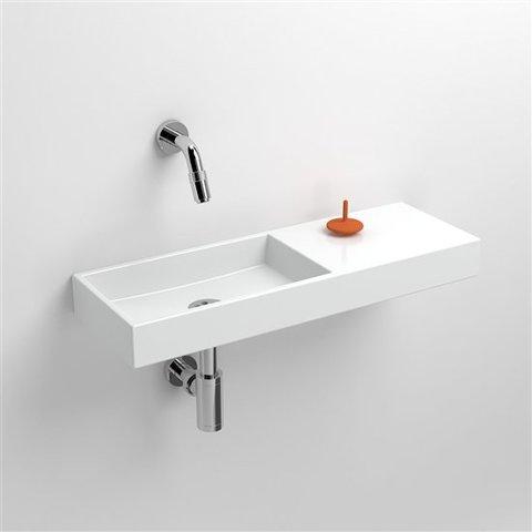 Clou Mini Wash Me fontein 56cm, zonder kraangat - rechts - wit keramiek