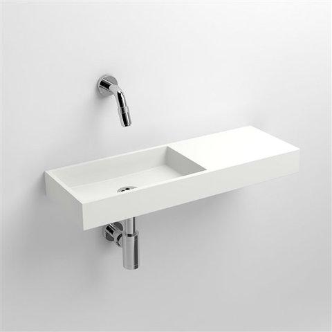 Clou Mini Wash Me fontein 56cm, zonder kraangat - rechts - aluite