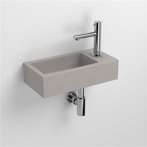 Clou Flush 3 toiletfontein met kraangat rechts beton