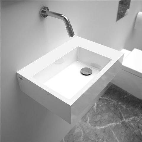 Clou Flush 2 Plus toiletfontein zonder kraangat mineraalmarmer