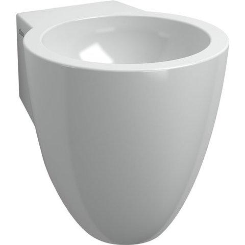Clou Flush 6 toiletfontein zonder kraangat wit keramiek