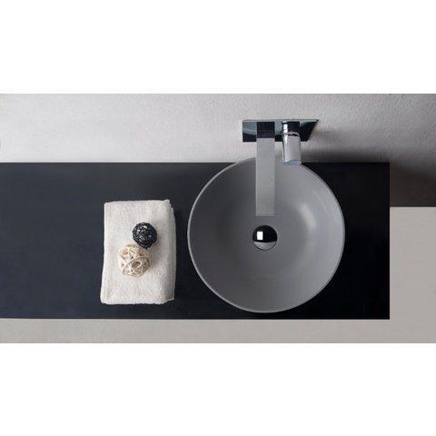 Ideavit Solidthin opzetwastafel rond 39cm - mat grijs