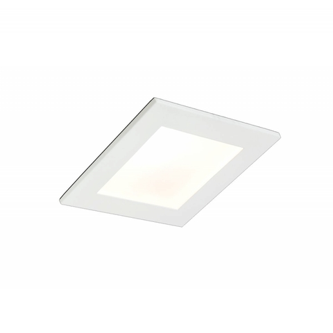 Blinq Lecco inbouw LED spot 90x90 mm vierkant wit