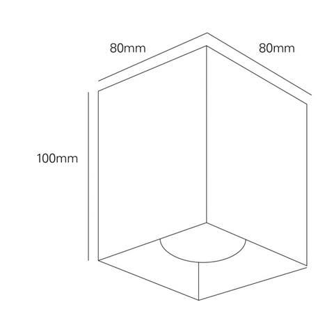 Blinq Monza opbouw LED spot 80x80 mm kantelbaar vierkant zwart (1 stuk)