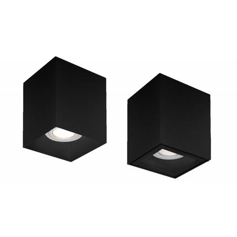 Blinq Monza opbouw LED spot 80x80 mm kantelbaar vierkant zwart