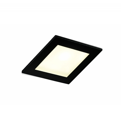 Blinq Lecco inbouw LED spot 90x90 mm vierkant zwart