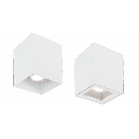 Blinq Monza opbouw LED spot 80x80 mm kantelbaar vierkant wit