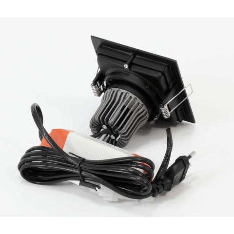 Blinq Cantello inbouw LED spot 90x90 mm vierkant zwart
