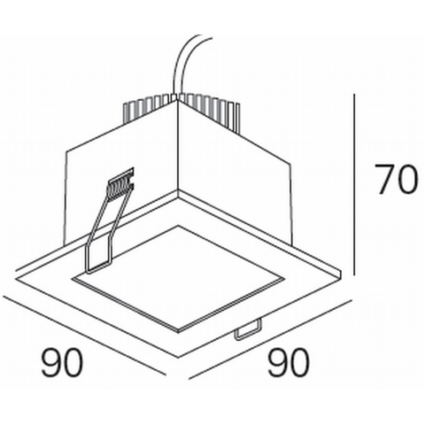 Blinq Lecco inbouw LED spot 90x90 mm vierkant chroom