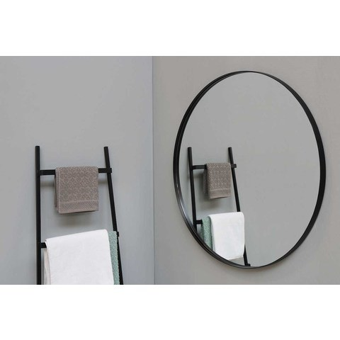 Ink SP15 spiegel rond 40cm met kader mat zwart