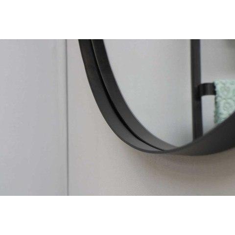Ink SP15 spiegel rond 80cm met kader mat zwart