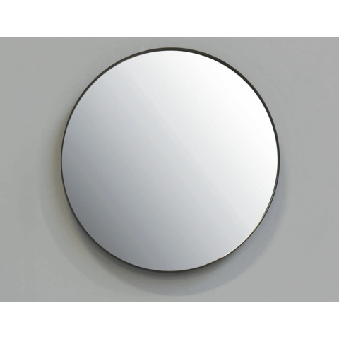 Ink SP15 spiegel rond 100cm met kader mat zwart