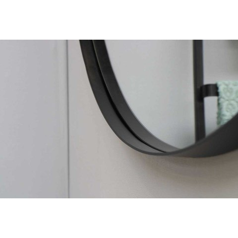 Ink SP15 spiegel rond 120cm met kader mat zwart