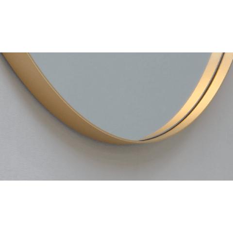 Ink SP15 spiegel rond 40cm met kader mat goud