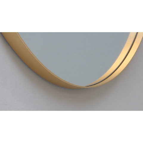 Ink SP15 spiegel rond 120cm met kader mat goud