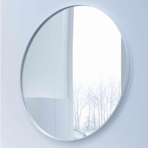 Ink SP15 spiegel rond 120cm met kader mat wit
