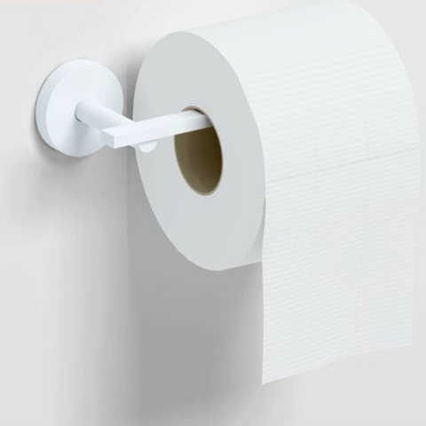 Clou Flat toiletrolhouder zonder klep diepte 7,2 cm mat wit
