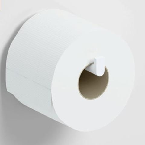 Clou Flat toiletrolhouder zonder klep diepte 12,1 cm mat wit