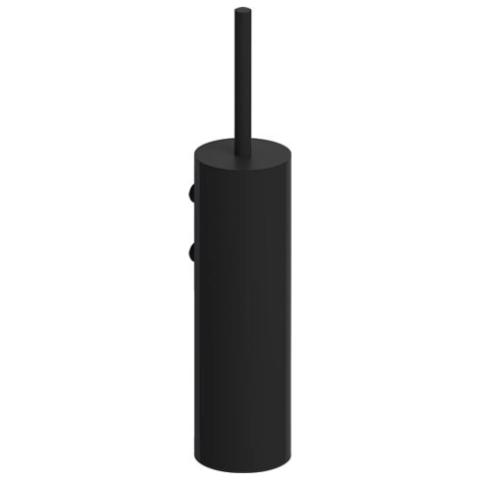 Clou Sjokker toiletborstelgarnituur wand mat zwart