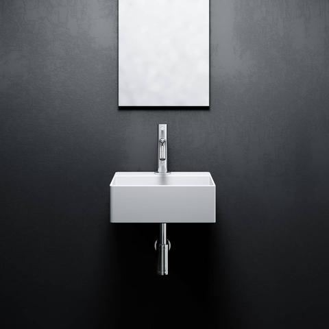 Clou New Flush 1 - 28 cm fontein met kraangat wit keramiek