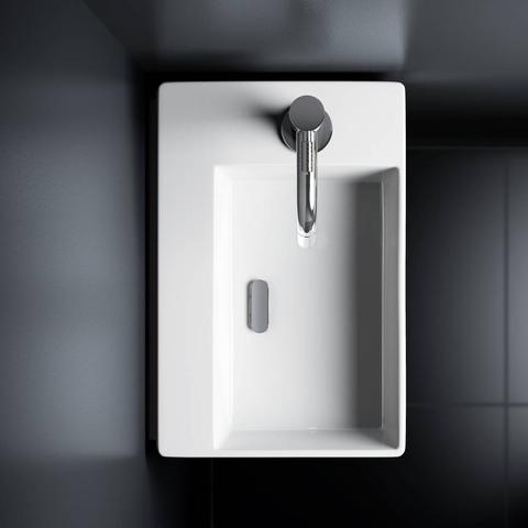 Clou New Flush 2 - 35,5 cm fontein met kraangat wit keramiek