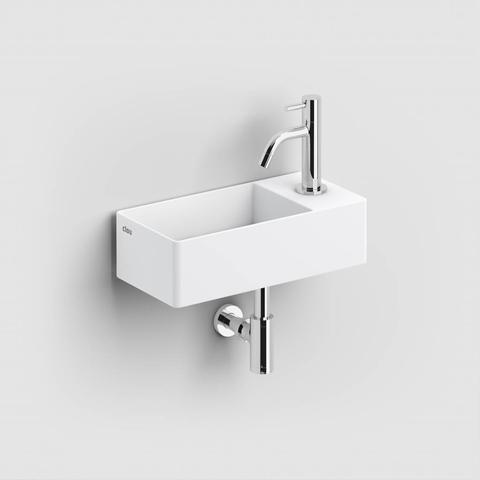 Clou New Flush 3 - 35 cm fontein met kraangat wit keramiek