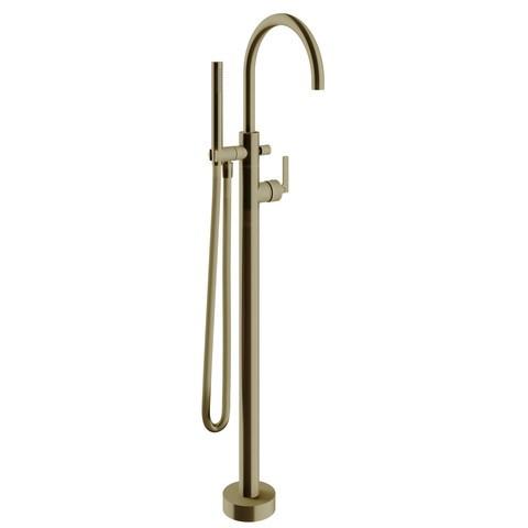 vtwonen Baden Grip badkraan vrijstaand met inbouwdeel bronze